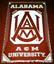 "ALABAMA A&M UNIVERSITY Afghan - Throw - Blanket (AAMU) - BULLDOGS 50"" x 70"""
