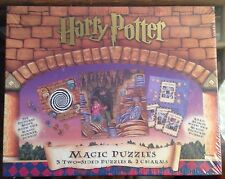 Harry Potter Magic Puzzles Three Two-Sided Puzzles And Two Charms New Sealed