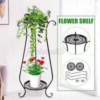 Indoor Metal Succulent Flower Plant Pot Iron Stand Bracket Display Shelf Holder