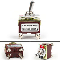 Toowei 2 Terminal 4Pin ON-OFF 15A 250V Toggle Switch Screw DPST Grade BK
