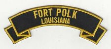"Fort Polk 4"" embroidered patch scroll tab"