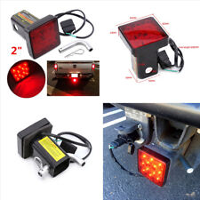 12LED Super Bright Truck Brake Light Trailer Hitch Cover Fit Towing & Hauling 2""