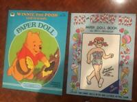 Paper Doll Vtg 2 Pc Lot 1980 Disney Winnie the Pooh; 1989 SIS the Candy Kid NEW