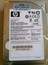 """HP DG072A9BB7 72GB 10K SAS ,10000 RPM,2.5"""" (395924-002) Hard Drive CA06681"""