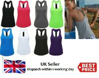 Womens TriDri® Fitness Tank Top Running Vest Ladies Gym Sleeveless Sports Shirt