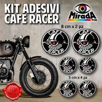 KIT ADESIVI STICKERS MOTO CAFE RACER RIDER MOTORBIKE SERBATOIO TRIUMPH BMW MOD.3