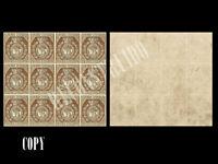 SPAIN 1853  EDIF 23 3 CUARTOS BLOCK OF 12 RECONSTRUCTED,  COPY
