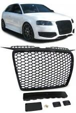 DEBADGED SPORTS BLACK HONEY COMB WEB RS3 LOOK GRILL FOR AUDI A3 8P 2005-2008 V2