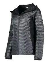 Powder Lite Light Hooded Columbia (Black Print) Women Down Jacket Size S {N5}