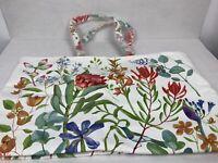 """Estee Lauder Floral Flower & Butterfly Large Tote Shopper Bag  Canvas 19.5 """"X12"""""""