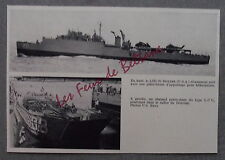 DOCUMENT PHOTO LSD 20 DONNER HELICOPTERE CHALAND PORTE CHARS LCU 1965 clipping