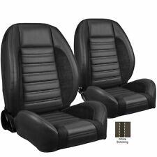 TMI Pro Series Sport R w/WHITE STITCH Bucket Seats for Chevelle, Nova, Camaro