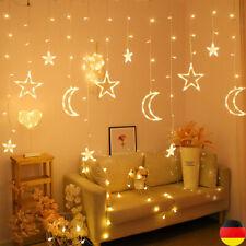 LED Sonne Mond &Stern Fairy Schnüre Ramadan Urlaub Dekoration Licht Deko De