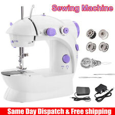 Electric Portable Sewing Machine Desktop Household Tailor 2 Speed Foot Pedal US