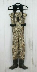 LL BEAN Men's Mossy Oak Camo Size 8 Bootfoot Fishing Chest Wader AS IS Size S