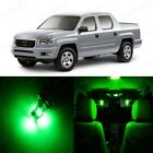 18 x Ultra Green LED Lights Interior Package Kit For Honda Ridgeline 2006 - 2014