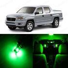 18 x Super Green LED Lights Interior Package Kit For Honda Ridgeline 2006 - 2014