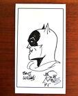 Batman Drawing by Bob Kane Signed Drawing Amazing Marvel, DC Comics  (Repro)