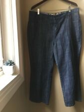 Motto Essentials Womens Size 18W Capris Cropped Jeans Embroidered Pocket