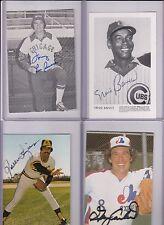 team issue postcard signed Ernie Banks Cubs  w/COA