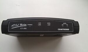 ADSL model Comtrend CT 300,Ethernet (RJ-45),  TAIWAN