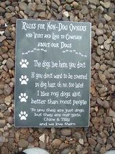 Los dueños de perros signos Perro Amantes regla Idea de Regalo de Navidad Shabby Vintage Chic Placas