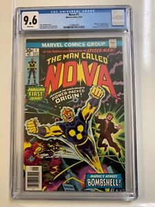 NOVA 1 CGC 9.6 NM+ WHITE PAGES 1976 ORIGIN & IST APPEARANCE MARVEL MOVIE COMING
