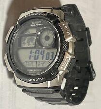 Casio World Time 5 Alarms Mens Watch 3198 AE-1000W