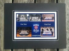 Duke Blue Devils matted pic of  all 5 NCAA Champs teams 1991/1992/2001/2010/2015