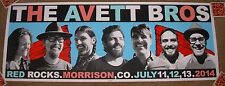 THE AVETT BROTHERS concert gig tour poster July 2014 RED ROCKS Signed by SETH!