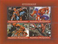 Madagascar - 2018 Spiderman - 4 Stamp Sheet - 13D-213