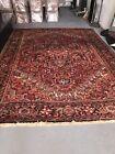 "Heriz Semi Antique Oriental Rug 8'9""x12'.5"" Great Heavy Carpet"
