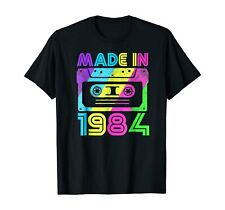 Made In 1984 Cassette Birthday Outfit 80S Party Wear T-Shirts Gift Tee Trend