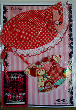 * WOW! DOLLYKISS RED DOLLY BONNET DRESS SET * BLYTHE * PULLIP * NEW *