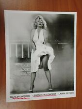 Vintage Glossy Press Photo Legends In Concert Marilyn Monroe by Laura Peters #3