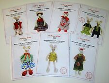 """HORTENSE THE MOUSE 19"""" STUFFED TOY DOLL with 6 Clothing Sewing patterns"""
