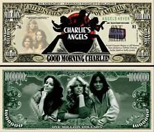 Charlie's Angels Million Dollar Bill Fake Funny Money Novelty Note + FREE SLEEVE