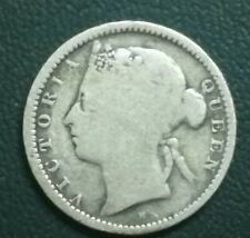 (RM) Straits Settlements Coin 10 cents Queen Victoria 1900 VF-AVF