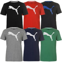 Puma Herren T-Shirt Big Cat Logo Tee Shirt Kurzarm Baumwolle S M L XL 2XL NEU