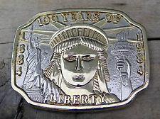 Statue Of Liberty Torch 100 Years Patriotic Historical Belt Buckle