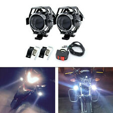 2Pcs High Power 6000K 3 Modes Motorcycle LED Headlight Decorative Lamp Fog Light