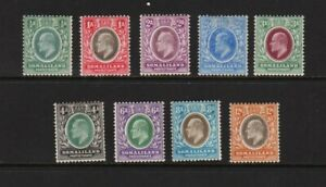 Somaliland Protectorate - 1905 set complete mint, cat. $ 64.75