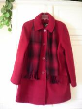 NWT EAST 5TH SZ L BRITISH RED PEACOAT RET $200 Pea Coat With Scarf