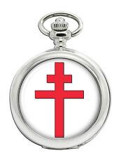 Cross of Lorraine Christian Pocket Watch