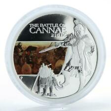 Tuvalu, 1 dollar 216 BC Battle of Cannae, silver coloured coin 2009