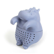 Gama-Go Hippo Tea Steeper Infuser Gray Silicone Brew Loose Leaf Cute Animal Gift