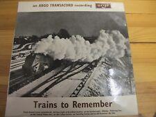 "ARGO ZTR 118 UK 12"" 1966 ""Treni da ricordare"" STEREO LP"