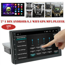 "7"" Car Radio 1DIN Android 9.1 GPS Stereo Navi WiFi MP5 PlayerQuad Core Universal"