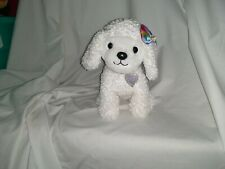 """12"""" cute soft chad valley toys argos bright paws fluffy curly white dog soft toy"""