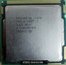 Intel Core i7 870 - 2.93GHz Quad-Core 1st Gen. CPU socket 1156 Processeur SLBJG
